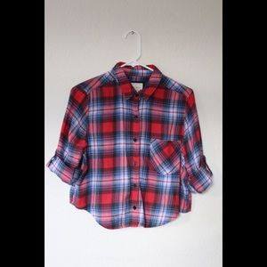 Forever 21 Cropped Flannel